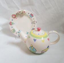 ❀ڿڰۣ❀ MARKS & SPENCER Hand Painted CUP CAKES Tea Party TEA POT & PLATE ❀ڿڰۣ❀