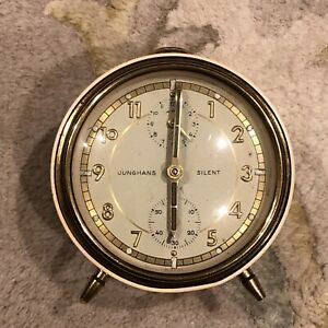 Vintage Junghans German Made Silent Mechanical Alarm Clock Vintage Retro