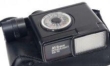 Nikon SB-12 + DIFFUSORE + Custodia morbida-Speedlight Flash -