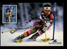 Anita Wachter AUTOGRAFO MAPPA ORIGINALE FIRMATO ski alpine + a 162778