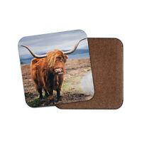 Highland Cow Coaster - Scotland Scottish Cattle Bull Animals Cool Gift #16286