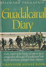 Guadalcanal Diary by R. Tregaskis (1943, 1st Printing) USMC in WWII, 1942