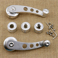 Universal Car Interior Manual Door Window Winders Crank Handles Silver Aluminum