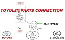 GENUINE LEXUS  ES350 & ES300h 2013-2017 FRONT & REAR OEM PADS & ROTORS SET