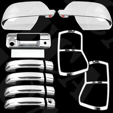 For Toyota Tundra Crew Max 07-09 Chrome Cover Set Mirror Door Tailgate Taillight