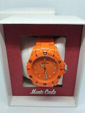 Reloj de Pulsera para hombres Deportivo Naranja Monte Carlo, Bisel giratorio, en caja original.