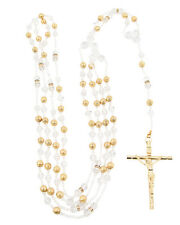 Gold Metal Ball Crystal Wedding Lasso Rosary - Crystal Wedding Lazo de Boda