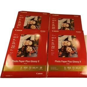 Cannon Pixma Photo Paper Inkjet Photo Paper 20 Sheets 8.5x11 High Gloss 4-Packs
