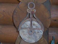 Antique Cast Iron Hudson Barn Pulley Mall 823 Vtg Barn Hardware Tool  Industrial