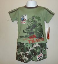Thomas & Friends Infant Boys Two (2) Piece Camouflage Cargo Short Set Green 12M