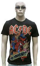 Amplified Último AC/DC ARE Usted Ready Estrás Lentejuelas Rock Star Camiseta L /