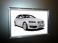 Audi S3 Nevera Imán (grande). elige Tu Coche Color.