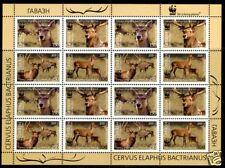 2009.Tajikistan. WWF. Bactrian deer. M/sh. Sc.347a