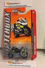BMW R1200 RT-P Police Motorcycle #114 * Silver * Matchbox MXB * Z128