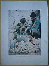 ca.1895 French photochrom HERB SELLER, TEHRAN, IRAN (#314)