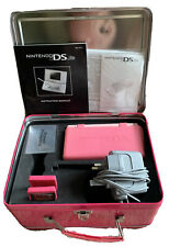 Nintendo DS Lite Coral Pink Console/Princess Peach Tin/Charger/game/case