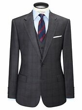 Paul Costelloe Wool Windowpane Check Suit Jacket, Chacoal Size 44L BNWT RRP £230