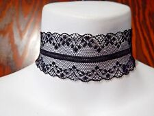 DELICATE LACE BAND CHOKER wide ribbon collar gothic lolita necklace mesh O3