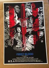 FIRST BLOOD PRINT/POSTER by ANTHONY PETRIE (not mondo taylor steelbook chumchart