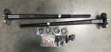 """NEW 4140 FORGED STEEL FORD 9"""" INCH 28 SPLINE CTL AXLES PAIR (2) 34"""" W/HARDWARE"""