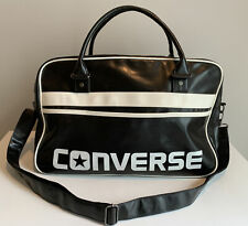 Converse Retro Style Black Leather Like Duffle / Gym / Carry On Bag
