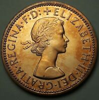 1970 GREAT BRITAIN HALF PENNY PROOF UNC FLAWLESS DARK COLOR TONED CHOICE BU (SS)