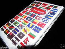"""Premier 100 Countries Flags Theme 10"""" World Coin Collection Album 120 Holders"""