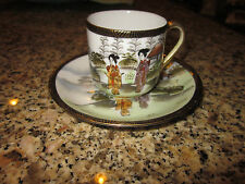 DEMITASSE CUP AND SAUCER FROM OCCUPIED JAPAN GEISHA #6076