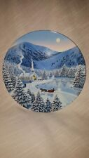 """Vintage """"Silent Night"""" W.S.George Bradford Exch Plate Signed by Artist Jean Sias"""