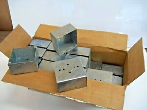 """New NOS Box of 25 RACO 2&1/8"""" Deep  4"""" Square Electrical Boxes 52171-1"""