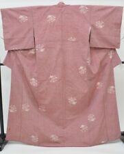 Japanese Vintage Kimono / silk / Womens 62.7inc./ Red 3nfuji26736