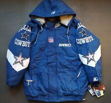 "NFL DALLAS COWBOYS Retro Jacket Bomber Vintage Starter Pro Line Hooded BNWT ""L"""