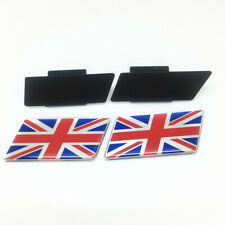 2X England Flag Chorme Front Grille Grill Emblem Badge Car Sticker Free Shipping