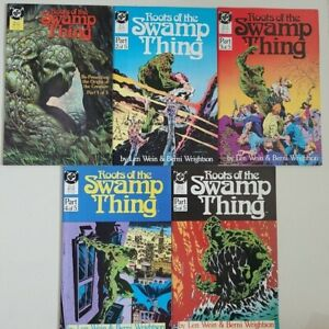 ROOTS OF THE SWAMP THING #1-5 (1986) DC COMICS COMPLETE SERIES! BERNI WRIGHTSON!