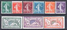 FRANCE ANNEE COMPLETE 1907 YVERT 137 / 145 , 9 TIMBRES NEUFS xx TB/TTB  M882A