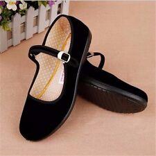 Дамы китайские Mary Jane туфли классические бархатные балетки туфли хлопок балетки S #