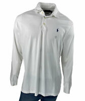 Polo Ralph Lauren Men's Classic Fit Long Sleeve Polo White Size Large