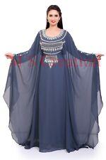 Marroquí Gris Dubái Caftanes Abaya Vestido Muy Elegante Vestido Largo Ms 450