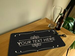 PERSONALISED Shots Glass Bar Beer Runner Mat - Any Name Text Pub Runner