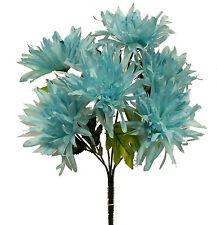 6 Fuji Mums Aqua Teal Blue ~ Silk Wedding Flowers Bouquets Centerpieces Bridal