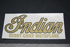 NOS NEW old repro USA made INDIAN TANK DECAL 1910 -'16  CHIEF, SCOUT, MOTOPLANE