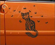2x Cats + 26 Mixed size butterflies Vinyl Car Graphics Stickers Decals