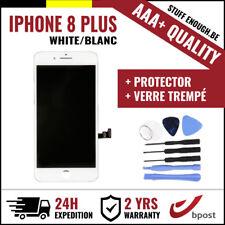 AAA+ LCD TOUCH SCREEN/SCHERM/ÉCRAN WHITE BLANC+VERR TREMPÉ+KIT FOR IPHONE 8 PLUS