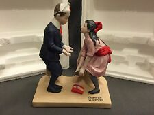 "Danbury Mint NORMAN ROCKWELL FIGURINE 1980 ""First Dance"" With Box"