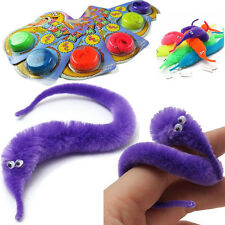 2Pcs Amazing Magic Twisty Fuzzy Worm Wiggle Moving Sea Horse Kids Trick Toy NEW