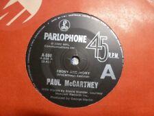 "PAUL McCARTNEY ""Ebony & Ivory/Rainclouds"" 7""45rpm Vinyl Record"