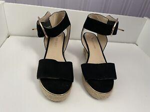 Black River Island Girls Wedge Sandals Uk Size 1