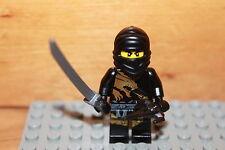 Lego Ninjago - schwarzer Ninja COLE DX Figur mit Schwert Set aus 2170 2509 2520