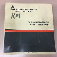 Allis Chalmers FPL50-2PS FORKLIFT TRUCK MAINTENANCE REPAIR SERVICE MANUAL BOOK