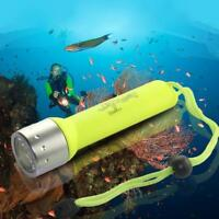 Outdoor Underwater LED Scuba Diving Flashlight Torch Light Waterproof F5X3